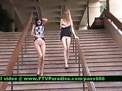 Faye And Larysa From Ftv Girls  Lesbians Flashing