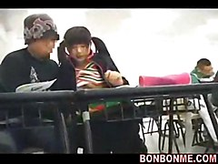 Cute University Girl Fucked On The Top Floor By Geek