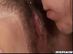 Cum On My Hairy Pussy With Candy