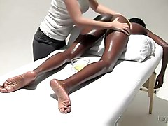 Massaging This Sexy Ebony