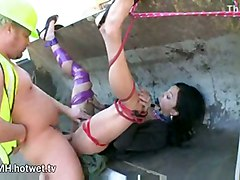 Bondage And Dirty Sex With Hot Brunette