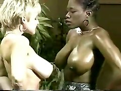 Ebony Ayes And Danni Ashe Wrestle